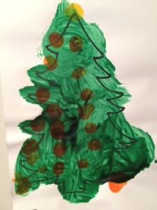 My daughter's artwork is both sloppy and endearing - much like her mom.