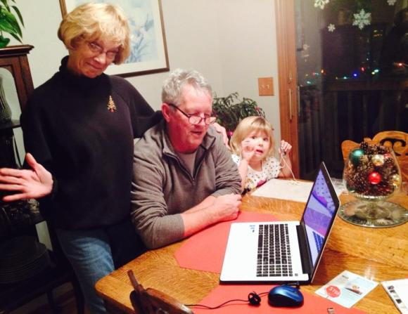 Grandma and Grandpa coming to terms with technology