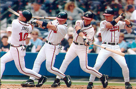 Perfect swing by Chipper Jones of the ATL Braves