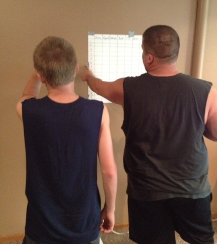 """Ryan passing along his """"wisdom"""" to our oldest."""
