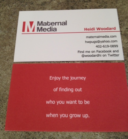 Allow me to slide you my business card in a non-intrusive, non-salesy way.