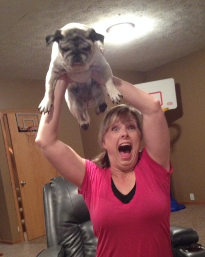 No one needs to see mom get carried away. Slow your roll, mom.