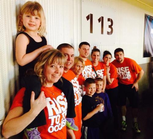 The Woodard cheering section at the 2014 Nebraska High School Boys State Basketball Tournament.