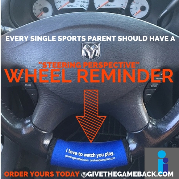 "Order your ""Steering Perspective"" wheel reminder today for you or someone you love. Twenty five percent of all proceeds from now through December 31, 2015 will go to All Play Sports Complex."