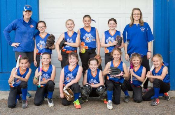 10U Lady Cougars team